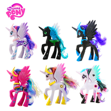 цены 14cm My Little Pony Toys Friendship is Magic Pop Pinkie Pie Rainbow Unicorn Pony PVC Action Figures Colletion Model Dolls