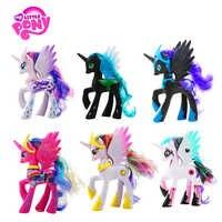 14cm juguetes My Little Pony La amistad es mágica Pop Pinkie Pie Rainbow Unicorn Pony PVC figuras de acción modelo de colección muñecas