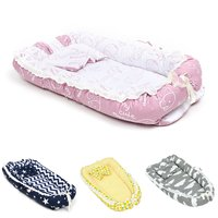Portable Baby Nest Bed Crib Removable And Washable Crib Travel Bed For Children Infant Kids Pearl Cotton Cradle With Pillow