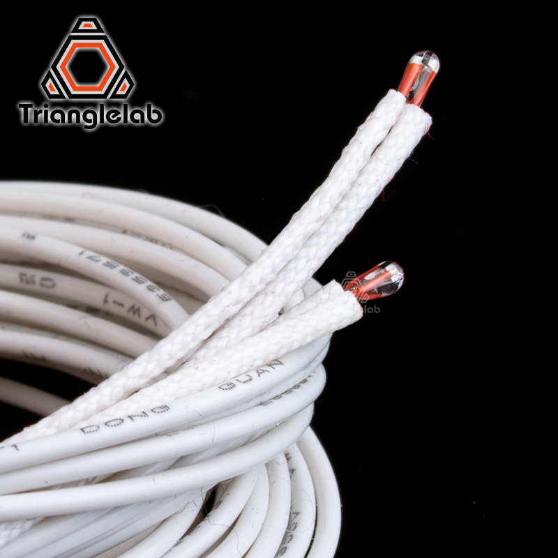 ATC Semitec 104GT-2 104NT-4-R025H42G Thermistor With Fibreglass Sleeving Insulating For Bed Hotend High Temperature 280℃