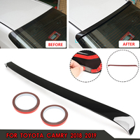 For Toyota Camry 2018 2019 Glossy Black ABS Plastic for JDM Sport Rear Window Roof Wing Spoiler w/ 3 meters glue