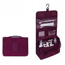 Bolsa de cosméticos de viaje de poliéster portátil impermeable Neceser bolsa de lavado colgante bolsa de maquillaje Neutral organizador de bolsa de lavado de baño