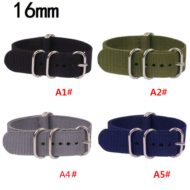 16mm 18mm 20mm 22mm 24mm Nylon Watch Band NATO Strap Zulu Strap Watch Strap Ring