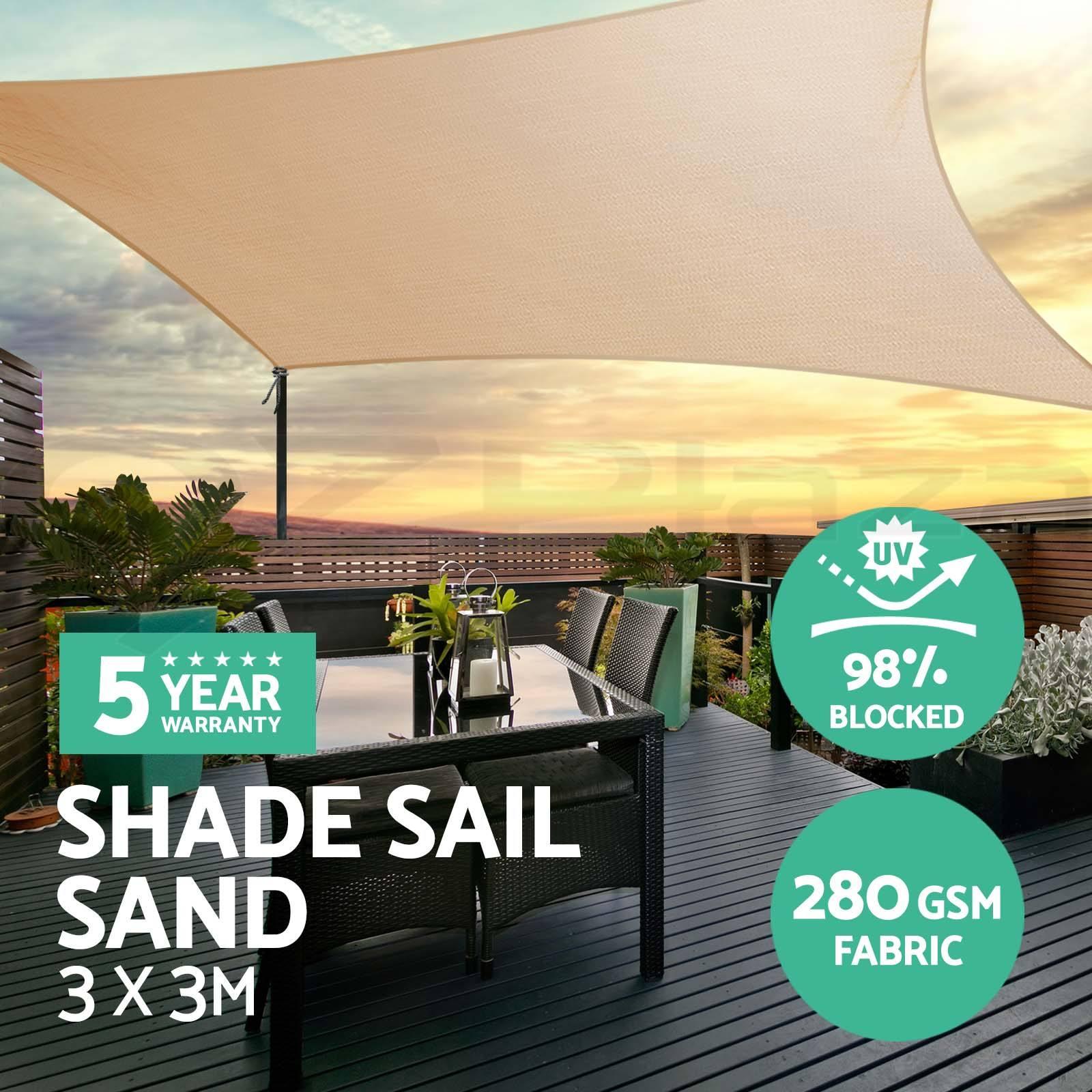 280gsm HDPE Rectangle abri soleil extérieur ombre voile tissu parasol Protection auvent jardin Patio piscine ombre voile auvent