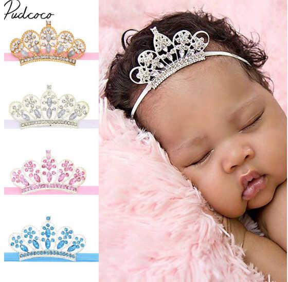 2018 nuevo lindo bebé diadema niños bebé niña princesa bebé fotografía utilería Tiara corona bebé accesorios para el cabello vestido