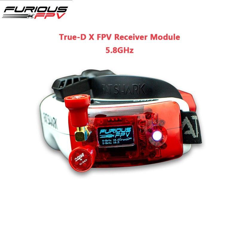 FuriousFPV True-D X FPV Módulo Receptor de 5.8GHz Para Fatshark Dominator Óculos RC Drone Quadcopter Multicopter FPV Parte accs