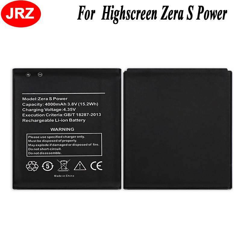 Mobile Phone Batteries Beautiful Jrz For Highscreen Zera S Power Phone Battery For Highscreen Zera S Power 4000mah 3.8v Top Quality Replacement Batteries Exquisite Craftsmanship;