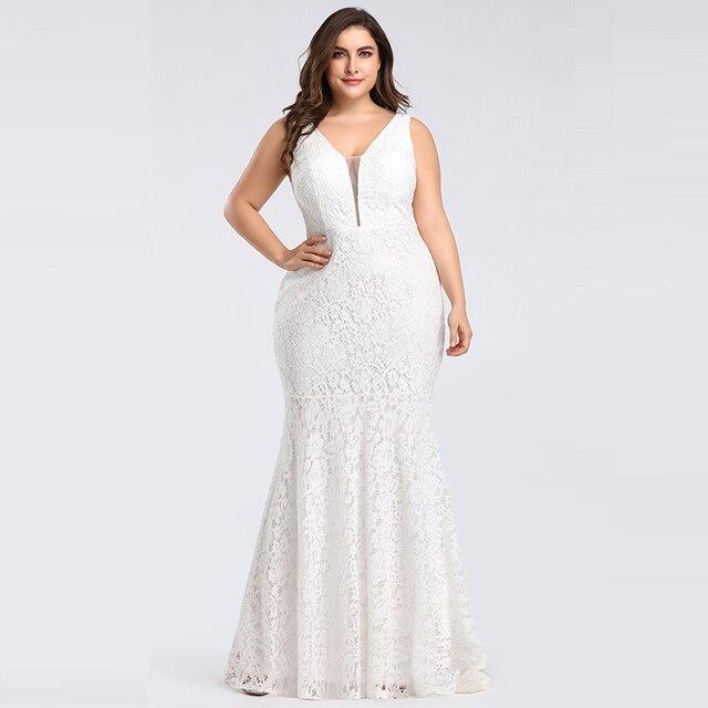 907e515217c9478 Lace Mermaid Wedding Dresses Long 2019 Ever Pretty Christmas Holiday Party  Sexy V Neck Elegant Prom