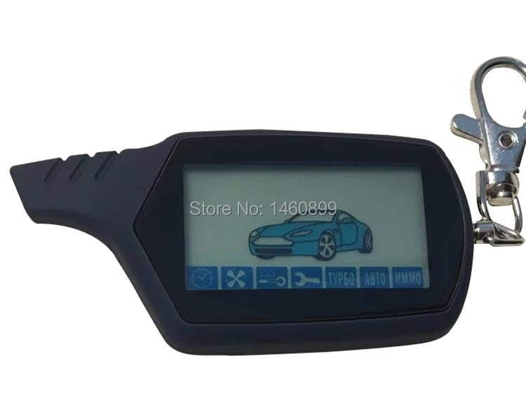 A91 2-way LCD Remote Control Key Fob For Russian Anti-theft
