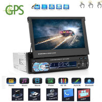 Стерео с 7 дюймов откиньте HD Сенсорный экран монитора Автомобильный MP3 плеер FM AM Bluetooth автомобиля аудио видео с gps заднего вида камера