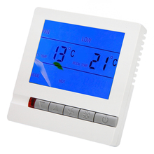 Digital LCD Thermostat AC 220V Room Thermostat Floor Heating Programmable Temperature Controller Instruments Mayitr weekly programing floor heating temperature controller thermostat regulator ac 230v lcd backlight