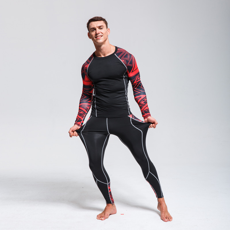 Men's Winter Thermal Underwear> Compression Ski Underwear Set > Fitness Wicking Tights Sports Warm > Base Layer Jogging Suit 4XL