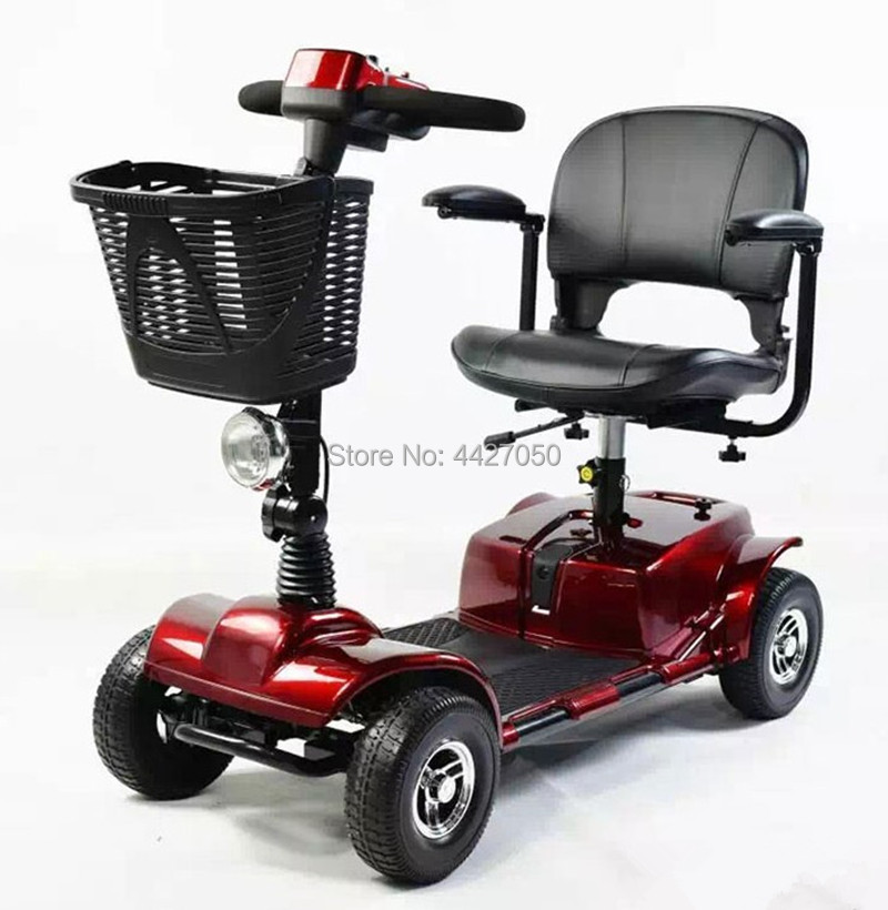 2019 Fashion high quality Four rounds Elderly scooter electric wheelchair