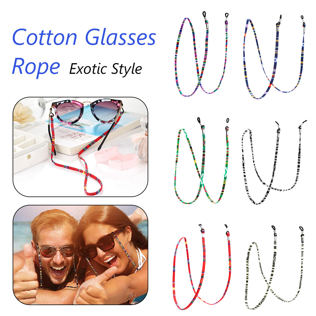 Woven Eyeglasses Chain Reading Glasses Rope Ethnic Style Sunglasses Strap Cord Holder Neck Band Accessories in Eyewear Accessories from Apparel Accessories