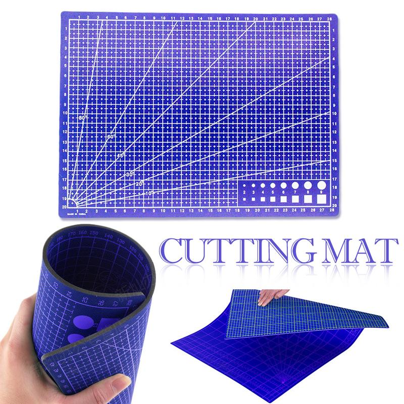 Cutting Mats Office & School Supplies Efficient A4 Grid Lines Cutting Mat Plastic Cutting Pad Craft Card Fabric Leather Paper Board Handmade Diy Paper Card Cutting Mat Plate