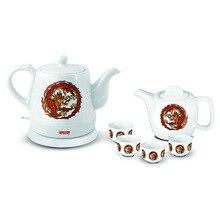 Чайник электрический MYSTERY MEK-1624 (Мощность 1500 Вт, фарфоровый корпус, емкость 1.2 л, заварной чайник и 4 пиалы в комплекте)