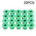 20x Для BMW боковые юбки и подоконники литьевые зажимы-зеленые пластиковые люверсы 51711932996 - фото