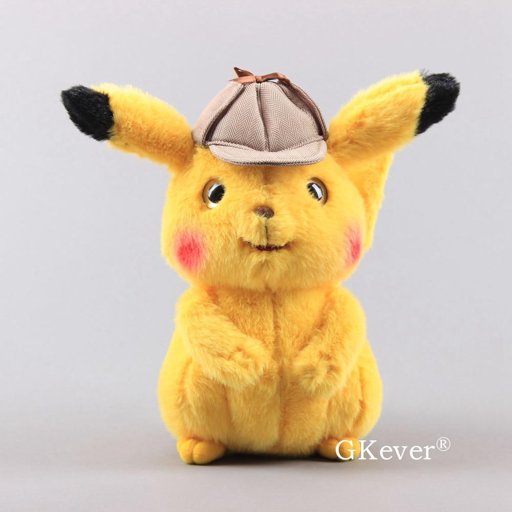 "2019 Movie Pokemon Detective Pikachu Plush Toy Doll Figure BirthDay Gifts 10/"""