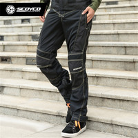 SCOYCO P017 Riding Motorcycle Pants Protection Reflective Trousers Jeans Man Moto Goods Clothing Biker Protector Clothes Racing