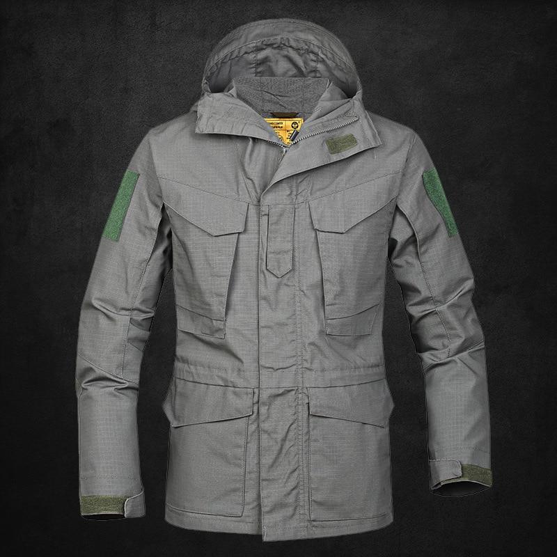 Coupe-vent homme armée Fans Camouflage étanche Ventilation garder au chaud lâche manteau M65 dirigeants à l'extérieur Charge vêtements