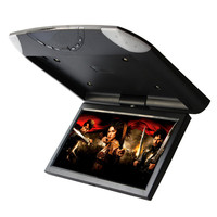 DC12V 24V Car Roof Mounted Overhead Flip Down MP4 MP5 Video Player 10.1 Inch HD LED Monitor with USB SD FM AV Input
