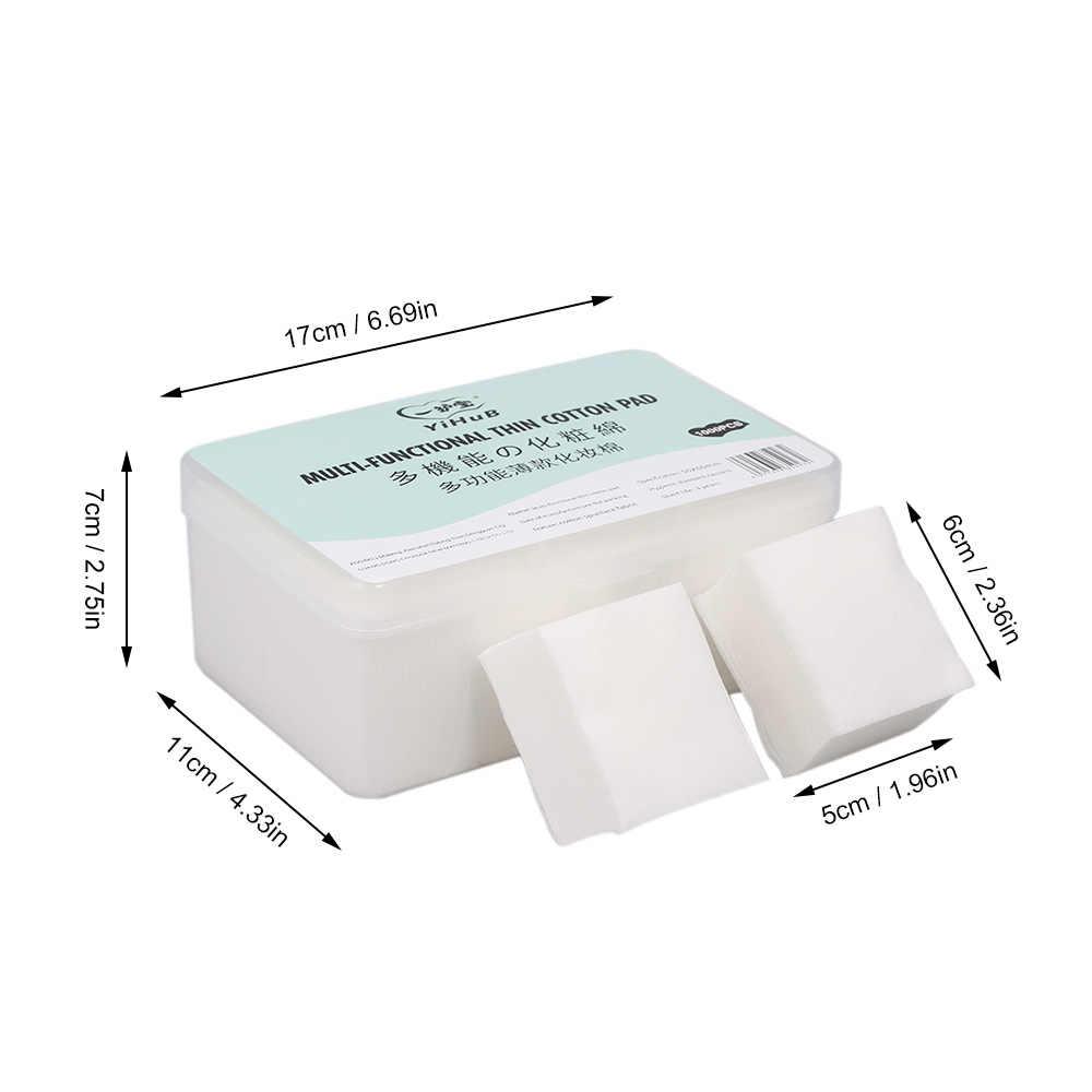 YiHuB 1000 個薄型コットンパッドワイプマニキュア除去フェイシャルクリーニングパッドティッシュ綿パッド