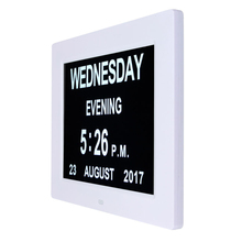 "8"" LED Dementia Digital Calendar Day/Week/Month/Year Clock Large Letter Gifts LCD Display"
