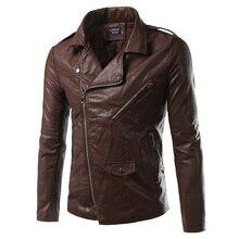 2018 Winter Zipper faux Leather hooded Jacket Loose Coat jaket men Fashion Locomotive Black Clothing