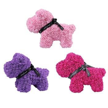 Valentines Gift 38cm Hot Sale Dog Rose Soap Foam Flower for Wedding Girlfriend Anniversary Gift Creative DIY Present 1