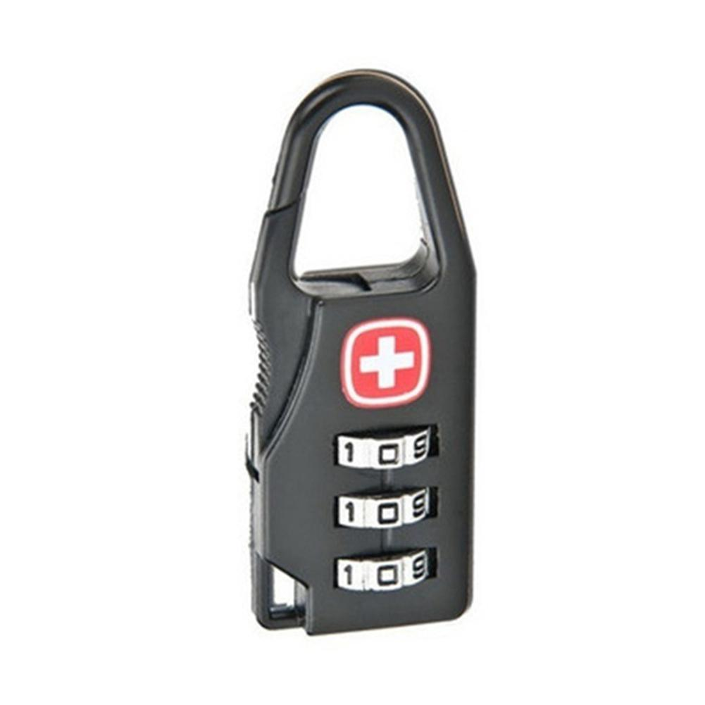Mounchain Anti-theft Safety Swiss Cross Printing Password Lock Pull Rod Suitcase Security Lock TSA Bag Lock for Outdoor Travel