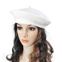 Vintage Womens Berets Girls Artist Solid Color Plain Beret Beanie Hats Caps Head Wear 20Kinds Candy Ladies Elegant