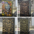 En relieve de cuero diario de viaje Vintage artesanal diario Notebook buho libro planificador de la Oficina de la escuela fuente de regalo