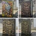 Geprägte Leder Notebook Reise Journal Vintage Handwerk Tagebuch Notebook Eule Bibel Buch Planer Schule Büro Versorgung Geschenk