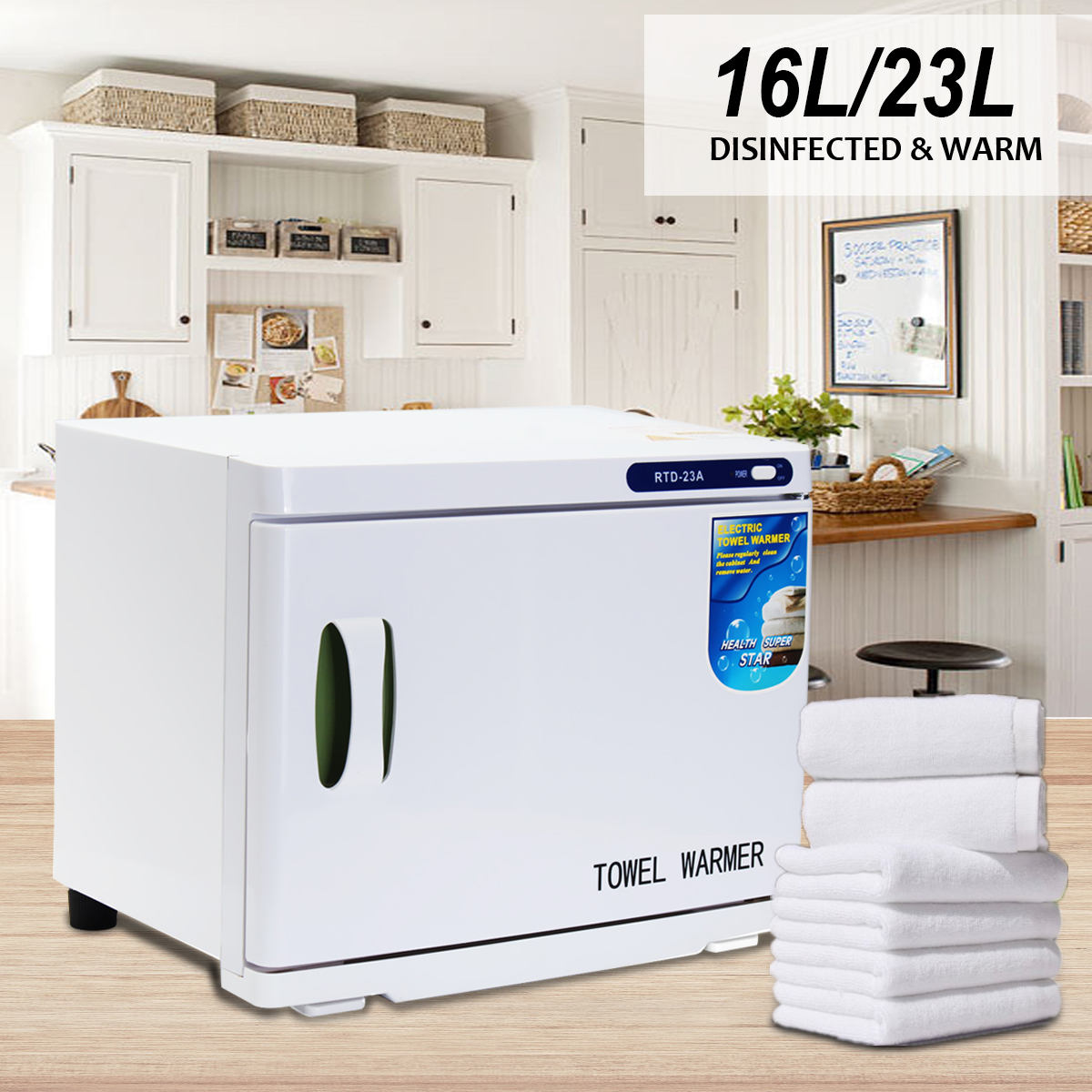 UV Light Electric Towel Warmer Towel Disinfection Cabinet Sterilizer Facial Salon Spa Towel Machine Hot Towel Cabinet 23L AU/US