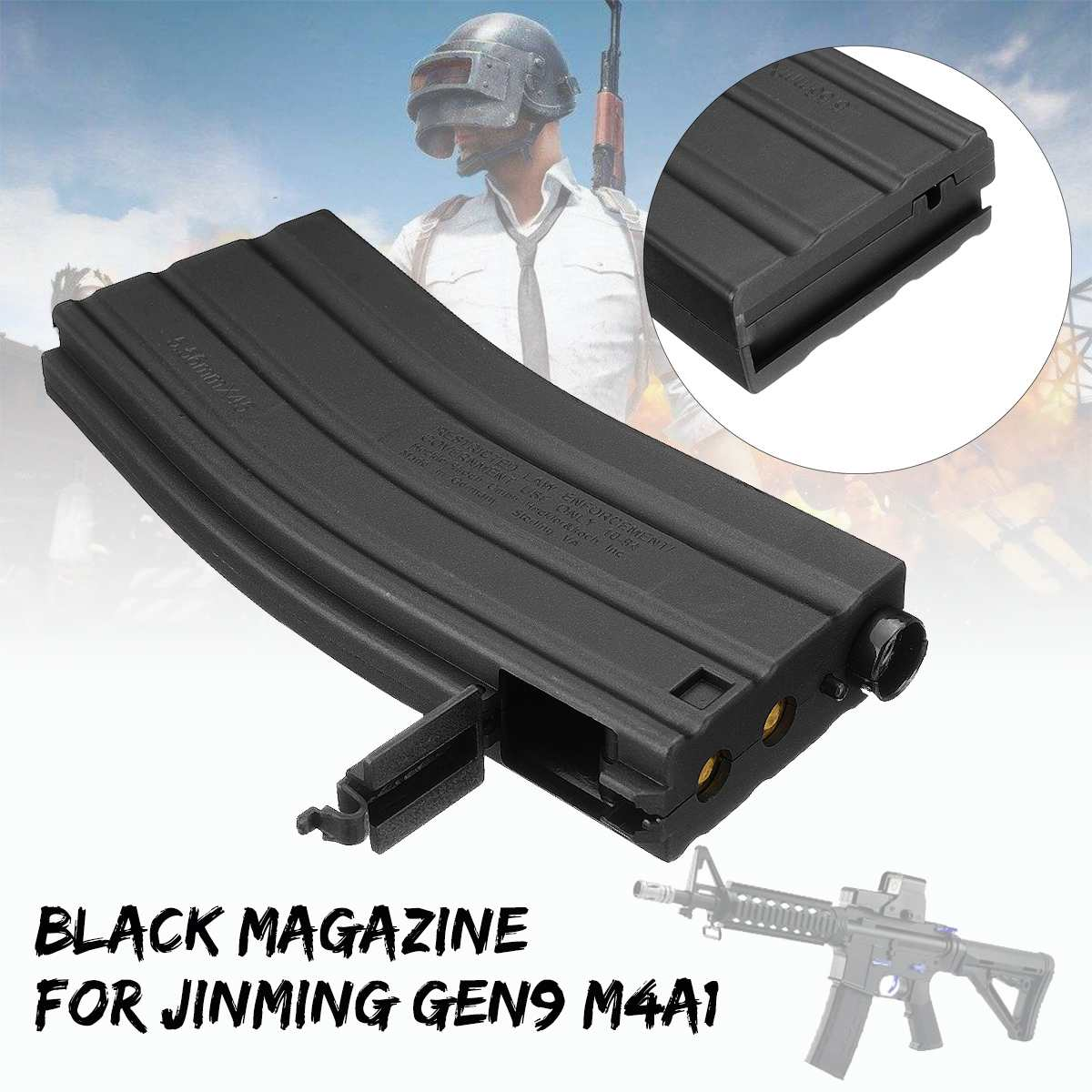 Magazine For JinMing M4 M4A1 Gel Ball Water Bullet Cartridge Kid Toy Chirldren Toy Accessory