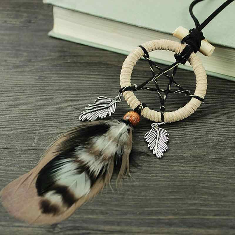 Mini Feather Dream Catcher Handmade Dreamcatcher Net for Car Wall Hanging Pendant Decoration Mascot Gifts