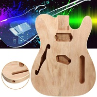 New DIY Electric Guitar Mahogany Wood Body Telecaster Thinline Style Body Part Single F Hole Musical for Electric guitars