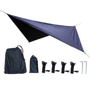 Image 2 - Outdoor Anti mosquito Net Hammock+Canoy Set Double Use Portable Camping Awning Tent For 1 2 People Sleeping Hanging Chair