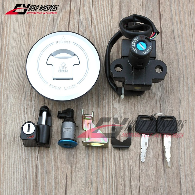 Motorcycle Ignition Switch Lock Fuel Gas Tank Cap Cover Seat Handle Locks Include Key For Honda CB250 Hornet 250
