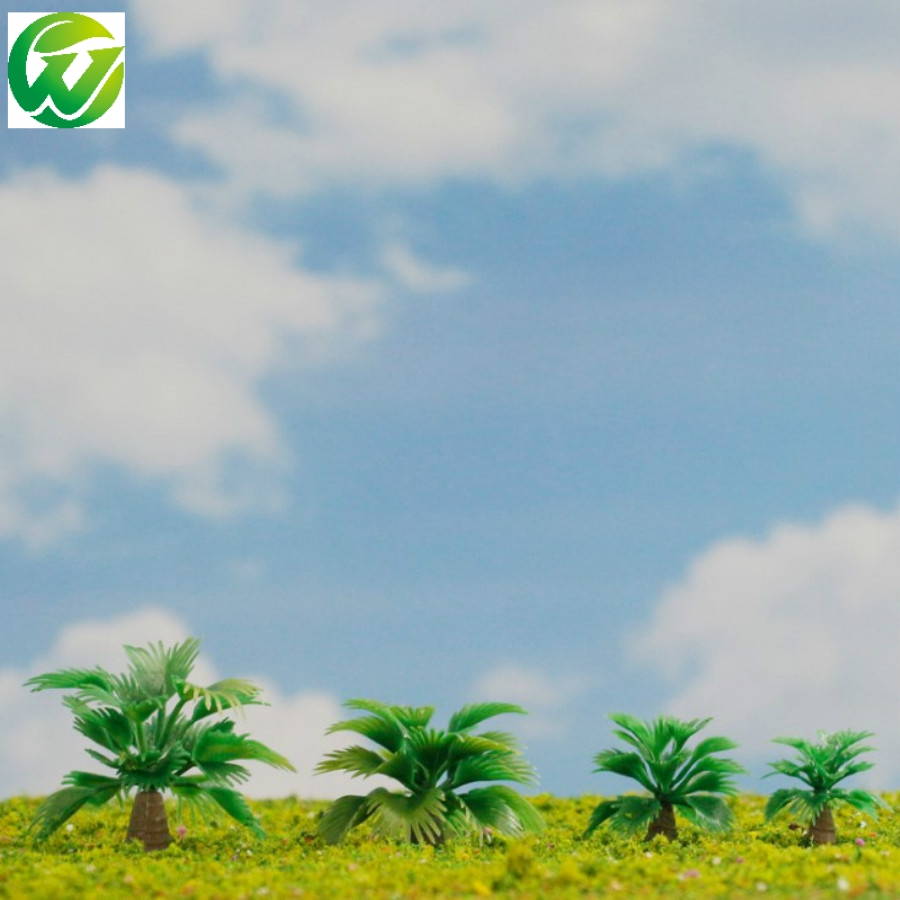 Us 12 72 8 Off 100pc 1 5cm 200 Scale Plastic Miniature Model Palm Tree Railway Ho Train Layout In Building Kits From Toys Hobbies On