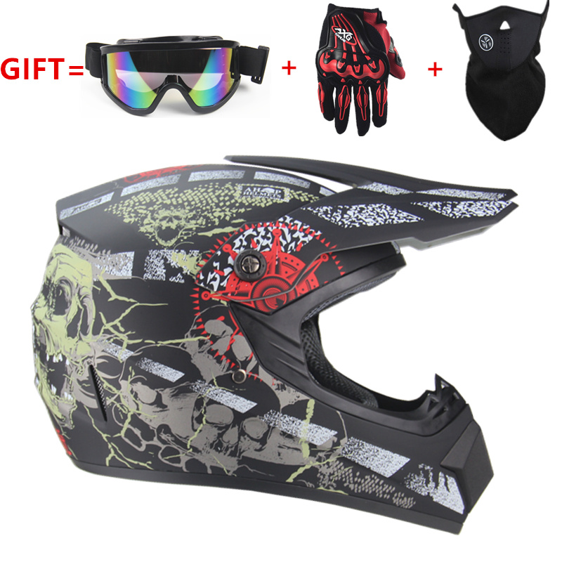 Envío Gratis motocicleta para adultos motocross fuera de carretera casco ATV Dirt bike Downhill MTB DH casco de carreras casco de cross