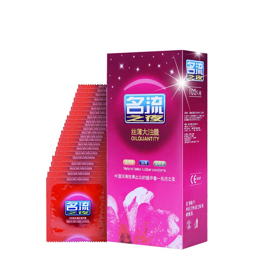 Buy 100Pcs/Set Natural Latex Ultra Thin Lubricated Sex Condoms Safe Contraception