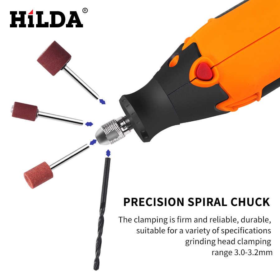 Hilda 180W Elettrico Mini Trapano a Velocità Variabile Rotary Tool per Dremel Mini Smerigliatrice Elettrica Accessori Dremel Trapano Macchina