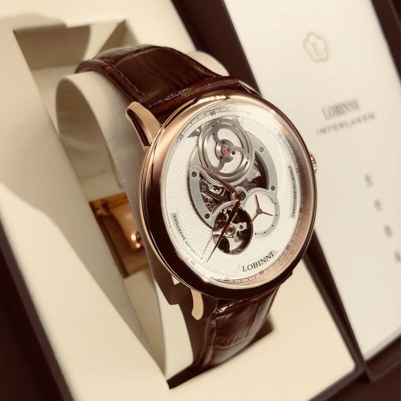 Suisse marque de luxe LOBINNI Top japon importation automatique mécanique montres pour hommes saphir 50 M étanche relogio horloge L16020 - 2