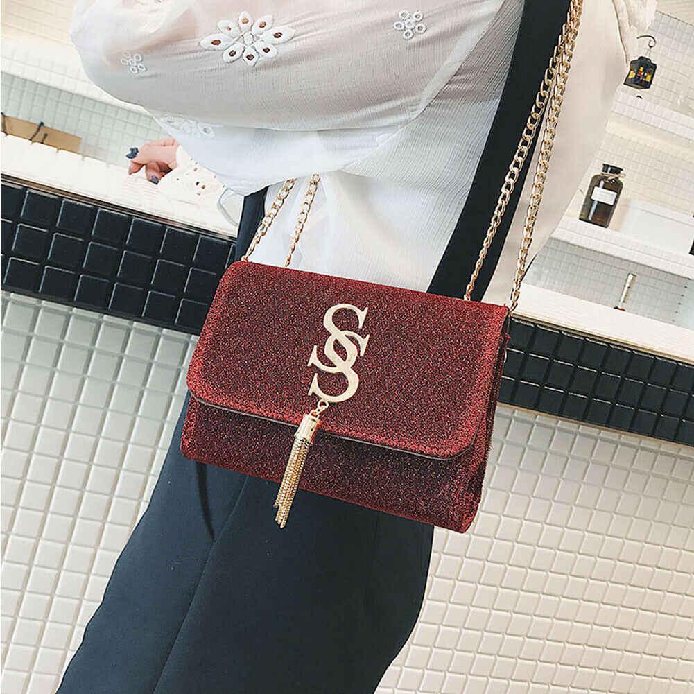 2019 Baru Wanita Wanita Selempang Kulit Tas Bahu Fashion Tote Dompet Pengait Musim Panas Perjalanan Tas Messenger Tas