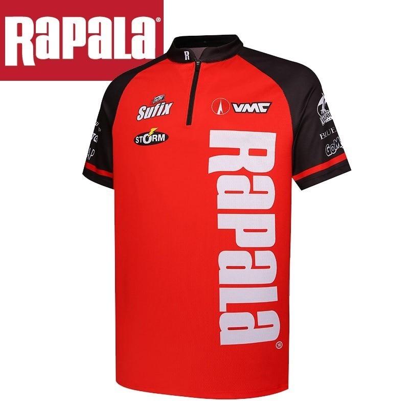 Original Rapala Brand Clothes Summer Fishing T Shirt Short Sleeve Quick-drying Breathable Anti-uv Fishing Shirt