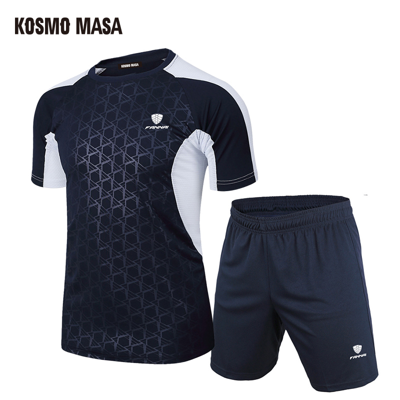 KOSMO MASA Summer 2019 Casual Tracksuit Men Sport Suit Running Men Set T Shirt Shorts Quick Dry Breathable Men 2 Piece Set MS013