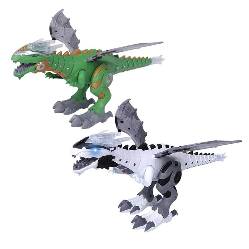Image 3 - Electric Dinosaurs Model Kit Kids Walking Spray Swing Robot Toy Electronic Animal Model with Light Sound Toys For Children-in RC Robots & Animals from Toys & Hobbies