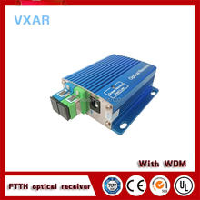 GPON EPON CATV FTTH optical node with WDM receiver