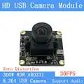 Nicht Verzerrung 1080P 30FPS UVC USB Kamera modul 3MP AR0331 Niedrigen illumination0.01Lux H.264 Breite dynamische CCTV kamera Unterstützung audio